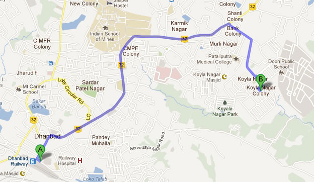 BCCL Bharat Coking Coal Limited A Subsidiary Of Coal India - Dhanbad map