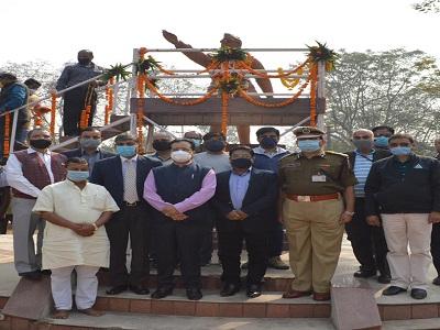 Netaji Subhash Chandra Bose's 125th birth anniversary was celebrated at BCCL Koyala Nagar.